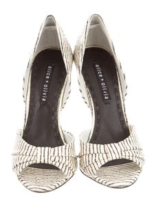 Alice + Olivia + Pinstripe D'orsay Pump Sexy Hells Blackandwhite Pumps Multi Sandals