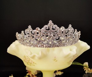 Wedding Silver Plated Tiara / Sweet 16 Tiara / Prom Tiara # T-010-anc