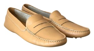 Tod's Leather Light Tan Flats