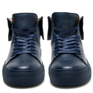 Buscemi Men Leather Designer Oceano Blue Athletic