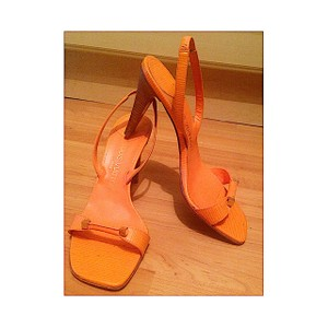 Louis Vuitton Epi Leather Orange Spring Collection Pumps