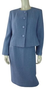 Talbots Talbots Petites Skirt Suit 6 Periwinkle Textured Acrylic Wool Blend