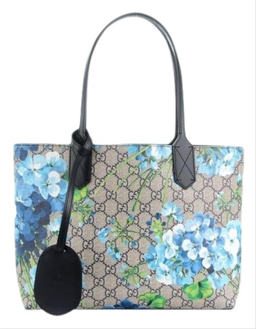 Gucci Reversible Blooms Navy Tote Gucci Reversible Blooms Navy Tote Image 1
