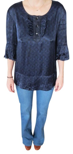 Preload https://img-static.tradesy.com/item/20560901/marc-by-marc-jacobs-navy-and-black-blouse-size-4-s-0-3-650-650.jpg
