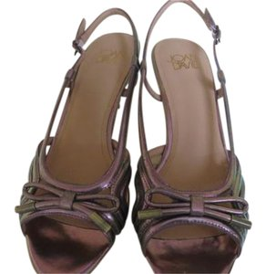 Joan & David Dressy metallic purplish /peuter Sandals