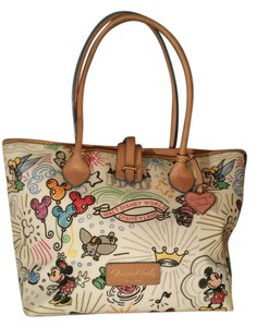 Dooney & Bourke Limited Tote in White/Multi Color