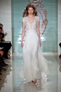 Reem Acra White Girl Wedding Dress Size 6 (S)
