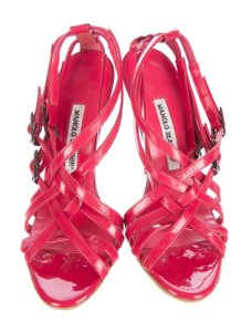 Manolo Blahnik Redpatentleather Manoloheels red Sandals