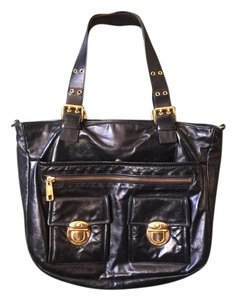 Marc Jacobs Gold Hardware Tote in Black