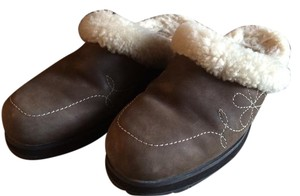 UGG Australia 5464 Leather Sheepskin Brown Mules