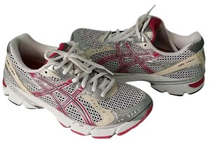 Asics WHITE/PINK Athletic