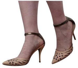 Steven by Steve Madden Ankle Strap Pump Office pink and bronze Pumps