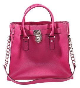 Michael Kors Satchel in Silver tone hardware