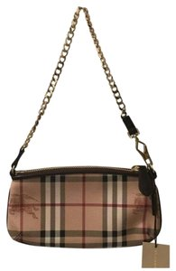 Burberry Check leather wallet on chain
