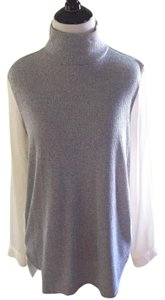 Ann Taylor LOFT Top Gray and White