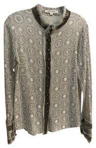 Marc Jacobs Button Down Shirt Metallic silver