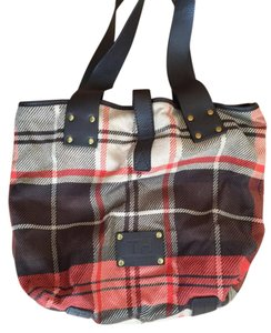 Tommy Hilfiger Tote in Brown and Orange Plaid