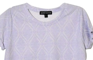 Almost Famous Clothing Large L Crop Croptop Top Lavender