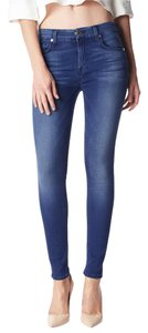 7 For All Mankind Slim Illusion Mid Rise Skinny Jeans-Medium Wash