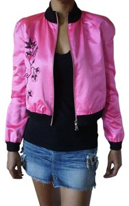 Chloé 100%silk Pink Embroidered fuchsia Jacket