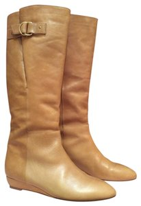 Loeffler Randall Italian Leather Wellie Tan Boots