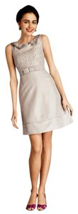 Anthropologie short dress Grey Mini Retro Vintage on Tradesy