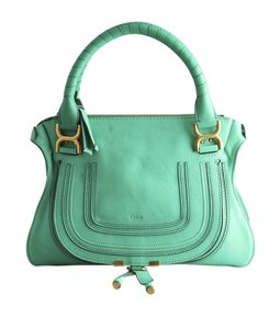 Chloé Leather Satchel in Green