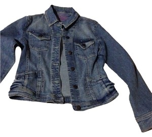 Arizona Jeans Company Distressed Denim Blue Jacket