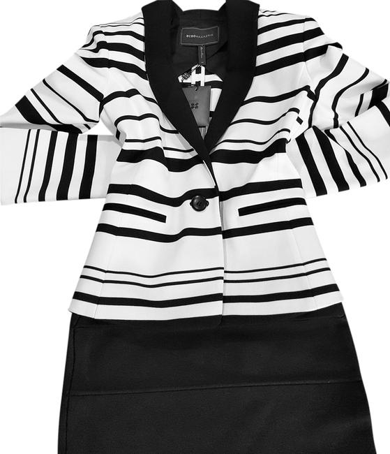 BCBGMAXAZRIA Striped Off White Blazer