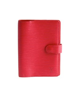 Louis Vuitton Louis Vuitton Red Epi Leather Snap Agenda (112063)