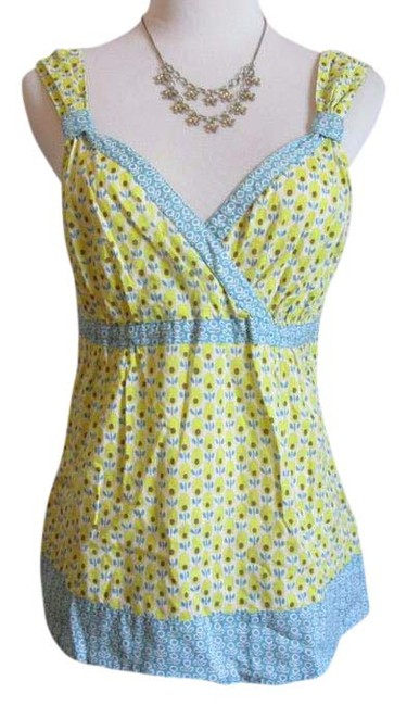 Boden floral summer by boden top yellow turquoise for Boden yellow