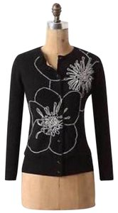 Anthropologie Embroidered Floral Flowers Cardigan