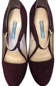 Prada Burgundy/Plum/Wine Wedges