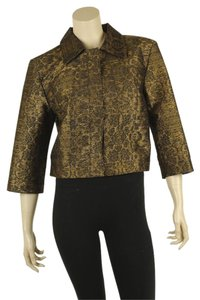 Oscar de la Renta Casual Acetate Cotton Polyester Bronze Jacket