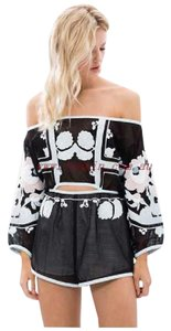 alice McCALL Black Going Out Embroidered Dress