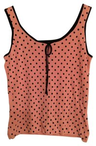 Carolyn Taylor Top Pink with black polka dots