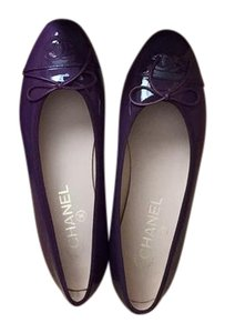 Chanel purple Flats