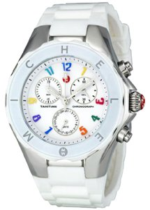 Michele Michele Tahitian Jelly Bean Carousel White & Silver Watch