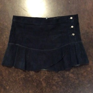 Isabel Marant Mini Skirt Green Suede