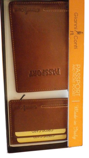 Brown New Passport and Front Pocket Wallet Brown New Passport and Front Pocket Wallet Image 1