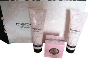bebe Sealed Bebe Parfum Spray 0.33 oz SHEER Shower Gel 3.4, Body Lotion 3.4