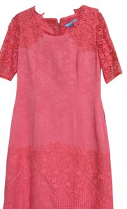 Antonio Melani short dress coral tides Cotton Polyester Lace Trim on Tradesy