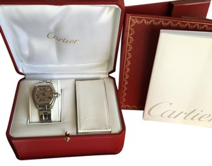 Cartier Cartier Roadster Pink Dial Ladies W62017V3 With Box & Certificates