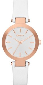 DKNY DKNY stanhope rosegold white leather watch