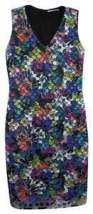 T Tahari short dress Black/Multi Sheath Multi Multicolor on Tradesy