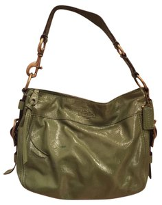 Coach Leather Patent Leather Hobo Bag