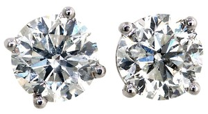 ABC Jewelry .78 ct brilliant cut diamond studs earrings