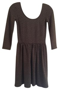 Frenchi short dress Gray and black Polka Dots Nordstrom on Tradesy