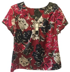 Talbots Top floral print