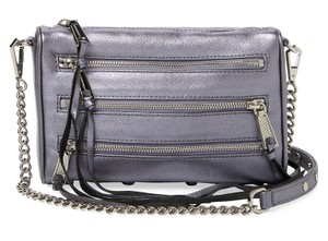 Rebecca Minkoff Mini Zip Iridescent Shadow Leather Cross Body Bag